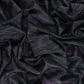 Tissu Maille Lurex rayé Théa - Rose x 10cm