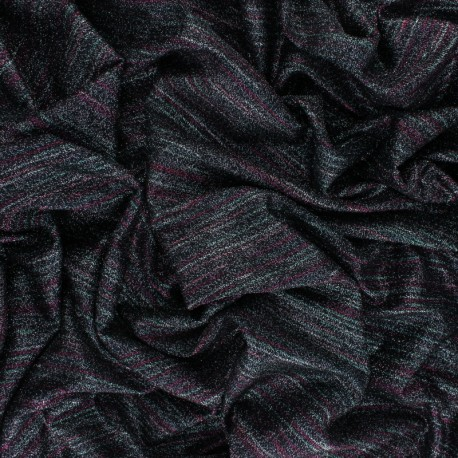 Lurex knitted Fabric Thea - pink x 10cm