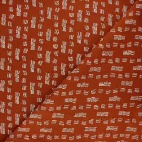Tissu sweat Poppy Funky stripes - brique x 10cm