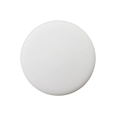 Recycled Plastic Button - White Odeon