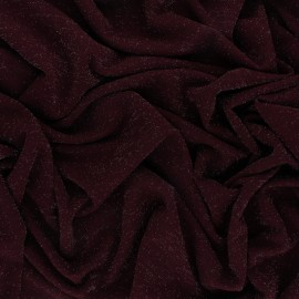 Tissu Maille Lurex Glitter - Violet x 10cm