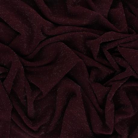 Lurex knitted Fabric Glitter - Purple x 10cm
