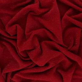 ♥ Coupon 40 cm X 150 cm ♥  Tissu Maille Lurex Glitter - Rouge