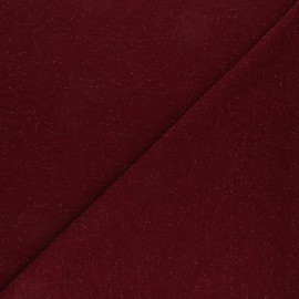Lurex knitted Fabric Glitter - Burgundy x 10cm