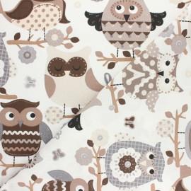Tissu coton cretonne Chats - écru x 10cm