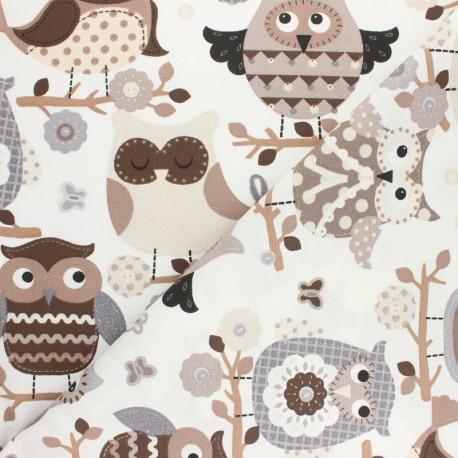 Cretonne cotton fabric - raw Cats x 10cm