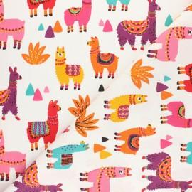 Tissu coton cretonne Hou Hibou - multicolore x 10cm