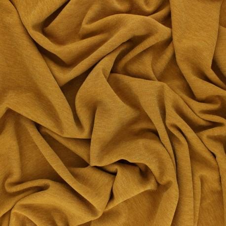 Lurex knitted Fabric Glitter - Mustard x 10cm