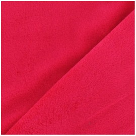 Soft short minkee velvet Fabric - red x 10cm