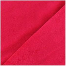 Tissu velours minkee doux ras rouge x 10cm