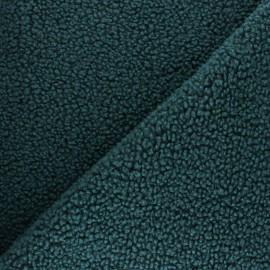 Tissu fourrure Astrakan Kiruna - vert sapin x 10cm