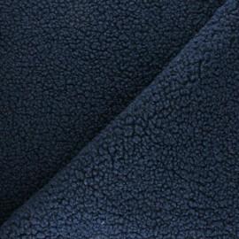 Astrakhan Fur fabric - navy blue Kiruna x 10cm