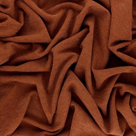 Lurex knitted Fabric Glitter - Pumkin x 10cm
