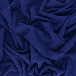 ♥ Coupon 50 cm X 150 cm ♥ Tissu Maille Lurex Glitter - bleu roy