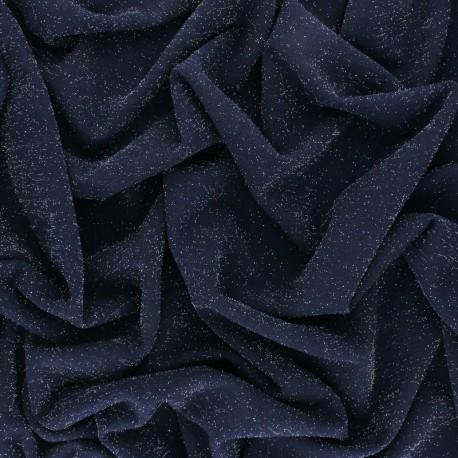 Lurex knitted Fabric - royal blue Glitter x 10cm