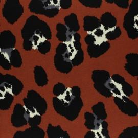 Tissu Crêpe Leopardino -bleu x 10cm