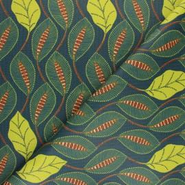 Tissu coton cretonne enduit Tam-tam - terracotta x 10cm