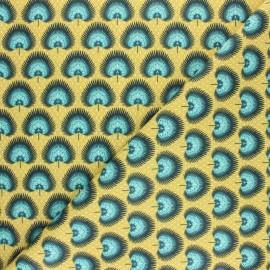 Tissu coton cretonne enduit Bénaria - bleu marine x 10cm