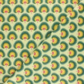 Tissu coton cretonne enduit Zanzibar - bleu x 10cm