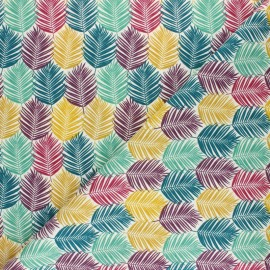 Cretonne cotton fabric - Multicolor Hou Hibou x 10cm