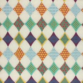 Cretonne cotton fabric - Multicolor Guilin x 10cm