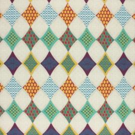 Tissu coton cretonne Guilin - multicolore x 10cm