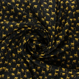 Royal micro satin By Penelope® - Black monkey x 10cm