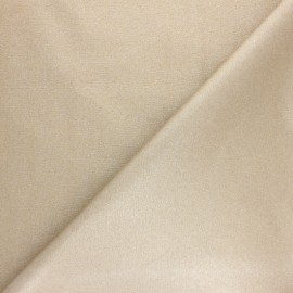 Tissu coton cretonne enduit Pearl - blanc irisé x 10cm