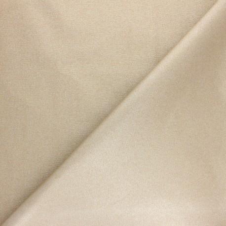 Coated cretonne cotton fabric - Iridescent white Pearl x 10cm
