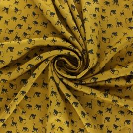 Tissu Royal micro satin by Penelope® Monkey - moutarde x 10cm