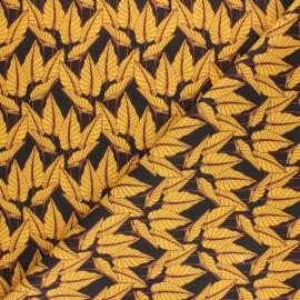 Tissu coton cretonne Flovo - vert x 10cm