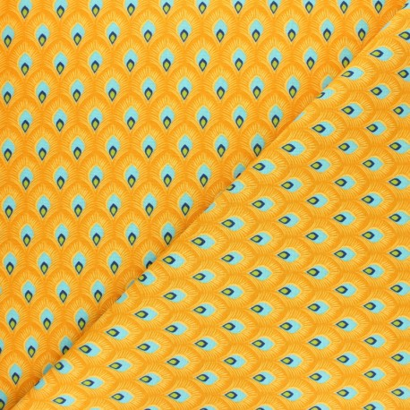 Cretonne cotton fabric - Yellow Antoni x 10cm