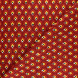 Tissu coton cretonne Velda - Jaune x 10cm