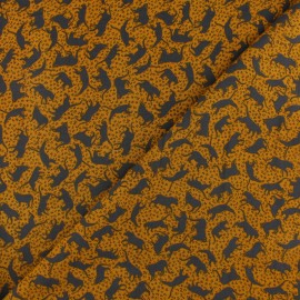 Radiance By Penelope® Viscose fabric - mustard Cat x 10cm