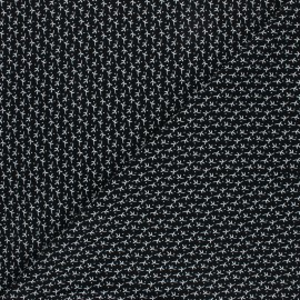 Radiance By Penelope® Viscose fabric - black Automne x 10cm