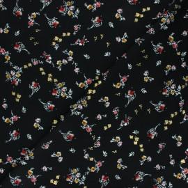 Tissu polyester satiné Pearl Peach Bouquet by Penelope® - Noir x 10cm