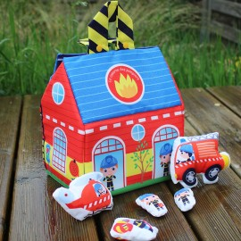 Kid Sewing Kit - Sew-It-Yourself Fire Station