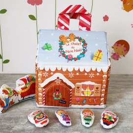Kid Sewing Kit - Sew-It-Yourself Santa Claus' Chalet