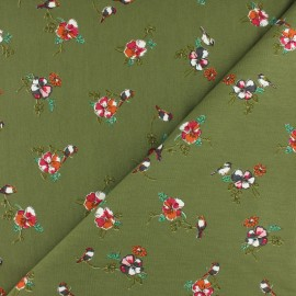 Modal French Terry Fabric By Penelope® - Green Romance x 10cm