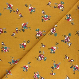 Modal French Terry Fabric By Penelope® - Mustard Romance x 10cm