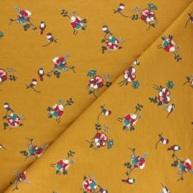 Tissu sweat léger Modal Romance by Penelope® - moutarde x 10cm