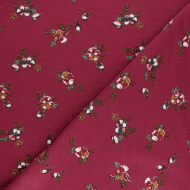 Modal French Terry Fabric By Penelope® - Burgundy Romance x 10cm