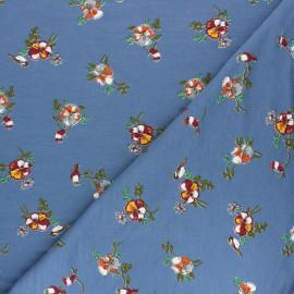 Tissu sweat léger Modal Romance by Penelope® - Bleu x 10cm
