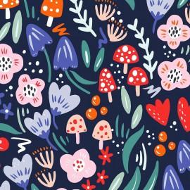 Primrose Fabrics cotton fabric - Navy Magical Night x 10 cm