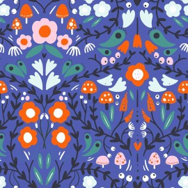Tissu popeline Primrose Fabrics - Magical Night - marine x 10 cm