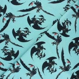 Tissu jersey Poppy Dragons - bleu x 10cm