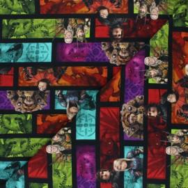 Tissu jersey Poppy L'univers d'Harold - vert x 10cm