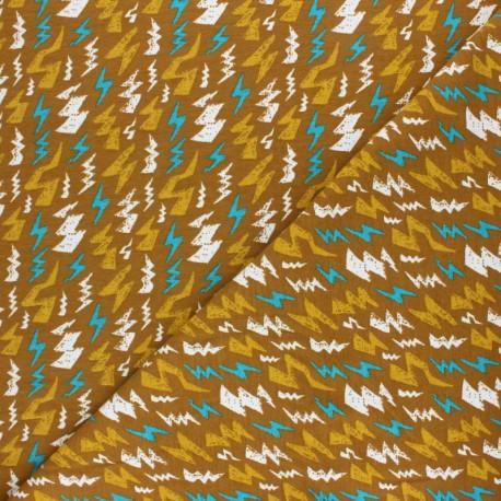 Poppy Jersey fabric - ochre Thunderstruck x 10cm