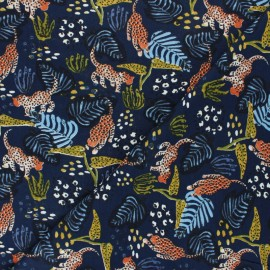 Tissu Modal Leopard by Penelope® - bleu marine x 10cm