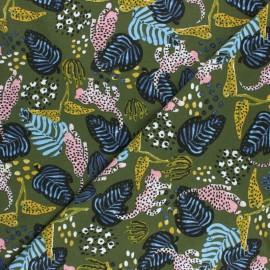 Tissu Modal Leopard by Penelope® - vert x 10cm